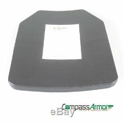 10X12inches Hard Armor Plate UHMWPE Level III STA Single Curve ShapeE Spray Poly