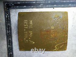 1x Level IV Ballistic Armor Plate 7.62 Size 11x12 USSR Vinage / $100 each