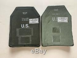2 Level III Ballistic Armor Plates 7.62 Size Medium