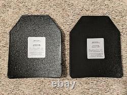 (2) Level III SAPI Ceramic Plates 10x12 Medium III+ Body Armor 5lb 3oz each