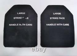 2 Monolithic Ceramic Silicon Carbide STRlKE FACE Ballistic Body Armor Plates