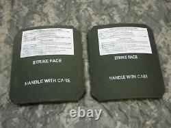 (2) STRIKE FACE BODY ARMOR SIDE PLATES LEFT & RIGHT LEVEL III CERAMICS 7 x 8