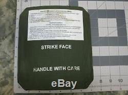 (2) STRIKE FACE BODY ARMOR SIDE PLATES LEFT & RIGHT LEVEL III CERAMICS 7 x 8