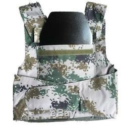 2X Trapezoid IIIA Safety Trauma Pads Body Armor Police Bulletproof Steel Plates