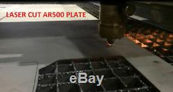 4 PC Level III AR500 Steel Armor Two 10 x 12+ Two 6 x 6 Plates -Full Frag Coated