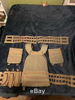 5.11 tactec plate carrier with side panels, ar500 plates, magazine pouches