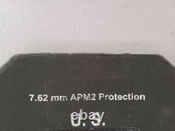 7.62mm APM2 Protection Ballistic Plates Side Body Armor Strike Face