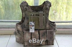A-TACS Combat Tactical Soft Bullet proof vest IIIA +2PCS III ceramic plates