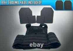 AR500 4 Pc Level 3 III Body Armor Plates Molle Vest Set-up