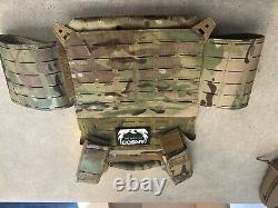 AR500 Armor Level III Body Armor with Lightweight Vest Black