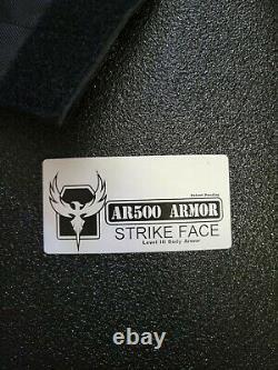 AR500 Armor Level III+ Full Set 10x12 & 6x8 Plates with Spall & Trauma Pads