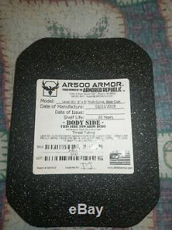 AR500 Level 3+ Curved 6 x 8 Side Armor Plates Set with Trauma Pads