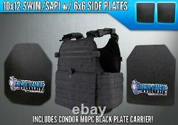 AR500 Level 3 III Body Armor Plates 10x12 with Side Plates & Condor MOPC Carrier