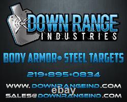 AR500 Level 3 III Body Armor Plates Curved 11x14 with 6x6 Side Plates Swim/Sapi