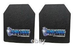 AR500 Level 3 III Body Armor Plates Pair Curved 11x14 with 6x6 Side Plates