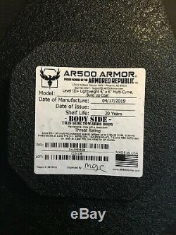 AR500 Level 3+ Lightweight Armor Plates Set with Trauma Pads & Side Plates