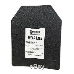 AR500 Level III 3 Body Armor Plates Pair Curved 10x12 with Side Plates