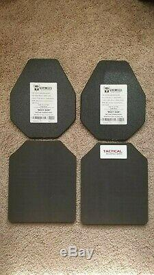 AR500 Level III+ Lightweight, 10x12, Shooter Cut, Curved, Build Up Coat, Pair