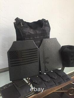 AR500 Plates Tactical Carrier lll Body Armor Made With Kevlar BULLETPROOF Vest