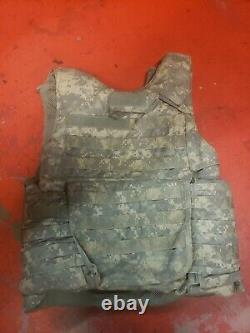 ARMY ACU DIGITAL BODY ARMOR PLATE CARRIER MADE WithKEVLAR INSERTS MEDIUM LONG