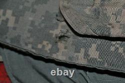 ARMY ACU DIGITAL BODY ARMOR PLATE CARRIER MADE WithKEVLAR INSERTS Medium