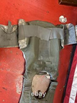 ARMY ACU DIGITAL BODY ARMOR PLATE CARRIER MADE WithKEVLAR INSERTS Medium lot 2
