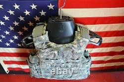 ARMY ACU DIGITAL BODY ARMOR PLATE CARRIER MADE WithKEVLAR INSERTS X-Small