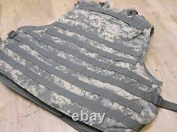 ARMY ACU DIGITAL BODY ARMOR PLATE CARRIER WITH MADE WithKEVLAR INSERTS LARGE VEST