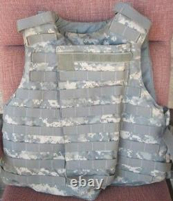 ARMY ACU DIGITAL BODY ARMOR PLATE CARRIER WITH MADE WithKEVLAR INSERTS MEDIUM VEST
