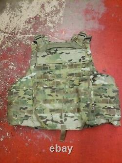 ARMY MULTICAM BODY ARMOR PLATE CARRIER MADE WithKEVLAR INSERTS MEDIUM