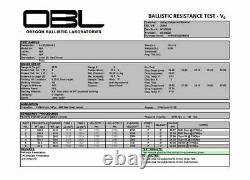Ankey Ballistic Armor Plates NIJ Level III+ 11X14 Curved Shooters Cut PE+Alumina