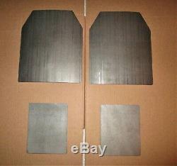 Ar500 Level 3+ Body Armor Plates (2) 10x12 And (2) 8x6 Plates Fast Shipping