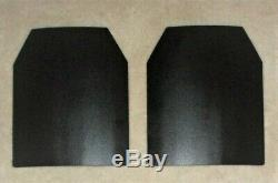 Ar500 Level 3+ Body Armor Plates (2) 10x12, Front/back Plates Fast Shipping