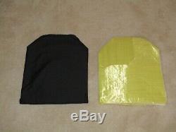 Ar500 Level 3+ Steel Armor Plates (2)10x12 And (2)8x6 Plates & Spall/aramid Pads
