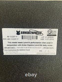 Armor Express AE Body Armor Level III D3 Ceramic 2010