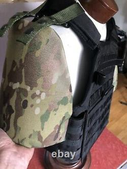 Armor shoulders AR500 level lll rifle grade Free Shipping usa made Multi Cam