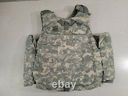 Army ACU Digital Camoflage Body Armor Plate Carrier with KEVLAR Panels Small