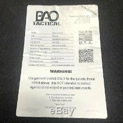 BAO Tactical 3600 Level III SA Hard Armor Plate Medium SE MultiCurve ShootersCut