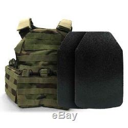 BAO Tactical Rugged Plate Carrier with (2) Light Level III Multi-Hit SM SE Plates
