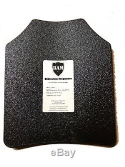 Body Armor AR500 Steel Plates Base Frag Coating Level III 10x12- PAIR