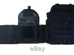 Body Armor Bullet Proof Vest AR500 Steel Plates Base Coat 10x12 6x6 -BLACK