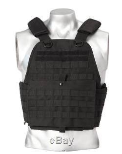 Body Armor Bullet Proof Vest AR500 Steel Plates Base Frag Coat 10x12 6x6 TAN