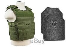 Body Armor Bullet Proof Vest AR500 Steel Plates Base Frag Coating- EXP OD