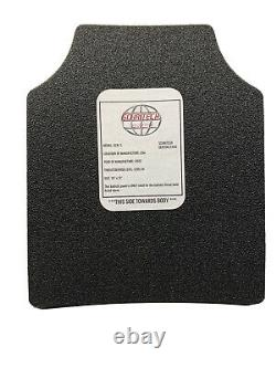 Body Armor Plates Curved 10x12 Level 3 with Trauma Pads, Set Of 2, FAST SHIPPING