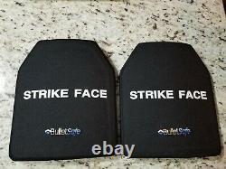 Bullet Safe 10x12 body armor Ceramic Level III-A SAPI plates NEW! Size Medium