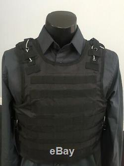 Bulletproof Kevlar AR500 Vest Carrier Plates Inserts Tactical Body armor Panels