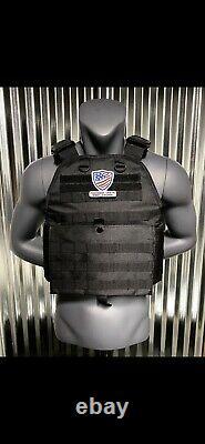 Bulletproof Vest Body Armor Level 3 III Plate Carrier Plates AR500 Bullet Proof