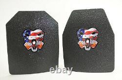 CATI AR500 BODY ARMOR BASE COAT SET 10x12s & 6x6 SIDE Plates Ballistic Steel