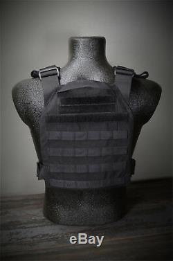 CATI AR500 Body Armor Level 3 Plates Active Shooter Sentry Adv. SC Black
