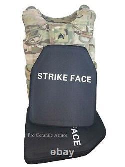 Ceramic Body Armor Plate Stand Alone Level Black Tip Resistance IV 10X12